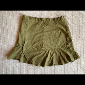 Madewell Green Mini Skirt
